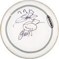 """Music Memorabilia:Autographs and Signed Items, Chuck Berry Signed Drum Head. A 13.5"""" Evans G1 cle..."""