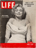 "Movie/TV Memorabilia:Memorabilia, A Marilyn Monroe ""Life"" Magazine, 1952...."