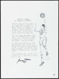 "Autographs:Others, George Mikan ""99"" Signed Print.. ..."