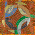 Fine Art - Work on Paper:Print, Frank Stella (b. 1936). Pumpkin Moonshine, from PolarCoordinates II (variant), 1979. Monotype in colors on Arches...