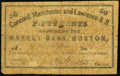 Obsoletes By State:New Hampshire, Concord, NH - Concord, Manchester & Lawrence R.R. 50¢ Nov. 1, 1862. ...