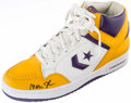 Autographs:Others, Magic Johnson Signed Converse Shoe. . ...