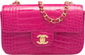 Luxury Accessories:Bags, Chanel Fuchsia Alligator Small Classic Flap Bag with Gold ...