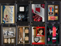 Autographs:Sports Cards, 2001-2010 Multi-Sport Relic/Signed Stars & HoFers Collection(8).. ...