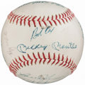 Autographs:Baseballs, 1968 New York Yankees Team Signed Baseball (16 Signatures).. ...