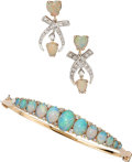 Estate Jewelry:Lots, Opal, Diamond, Gold Jewelry. ... (Total: 2 Items)