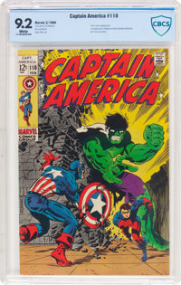 Captain America #110 (Marvel, 1969) CBCS NM- 9.2 White pages