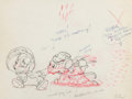 Animation Art:Production Drawing, The Country Cousin Abner and Monty Animation Drawing (WaltDisney, 1936). ...