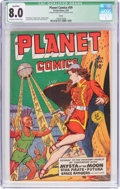 Golden Age (1938-1955):Science Fiction, Planet Comics #59 Toledo Pedigree (Fiction House, 1949) CGCQualified VF 8.0 Off-white to white pages....