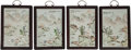 Asian:Chinese, Four Chinese Enameled Porcelain Landscape Plaques. 16 h x 11-1/2 wx 1 d inches (40.6 x 29.2 x 2.5 cm). ... (Total: 4 Items)