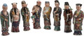 Asian, Eight Chinese Enameled Porcelain Immortal Figures. 10-1/2 incheshigh (26.7 cm) (approximate, each). ... (Total: 8 Items)