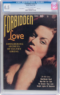 Forbidden Love #1 (Quality, 1950) CGC VG+ 4.5 Off-white to white pages