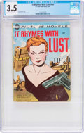 Golden Age (1938-1955):Romance, It Rhymes With Lust #nn (St. John, 1950) CGC VG- 3.5 Off-white towhite pages....