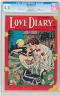 Golden Age (1938-1955):Romance, Love Diary #1 (Quality, 1949) CGC VG 4.0 Off-white pages....