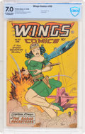 Golden Age (1938-1955):Adventure, Wings Comics #90 (Fiction House, 1948) CBCS FN/VF 7.0 Off-white to white pages....