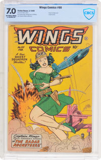 Wings Comics #90 (Fiction House, 1948) CBCS FN/VF 7.0 Off-white to white pages