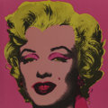 Fine Art - Work on Paper:Print, After Andy Warhol . Marilyn Monroe Announcement Card, 1981. Offset lithograph in colors on paper. 7 x 7 inches (17.8 x 1...