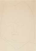 Prints & Multiples, Pablo Picasso (1881-1973). Balzac, 1952. Lithograph on paper. 30 x 22 inches (76.2 x 55.9 cm). Ed. 24/25. Signed in red ...