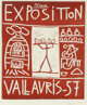 Pablo Picasso (1881-1973) Exposition Vallauris 57, 1957 Linocut in colors on wove paper. with full margins 39-1/2 x 2...