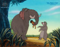 Animation Art:Production Cel, Disney's Jungle Cubs Mowgli, Colonel Hatri, and Baloo Production Cel Setup and Master Painted Background (Walt Disney,...