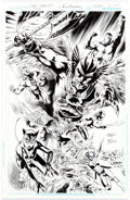 Original Comic Art:Covers, Eddy Barrows and Eber Ferreira Justice League of America #14Cover Original Art (DC, 2014)....