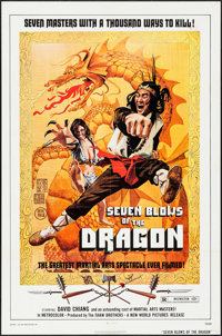"Seven Blows of the Dragon (New World, 1973). One Sheet (27"" X 41""). Action"