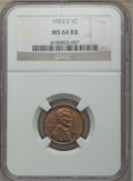 Lincoln Cents: , 1923-S 1C MS64 Red and Brown NGC. NGC Census: (59/20). PCGS Population: (181/26). CDN: $1,000 Whsle. Bid for problem-free N...