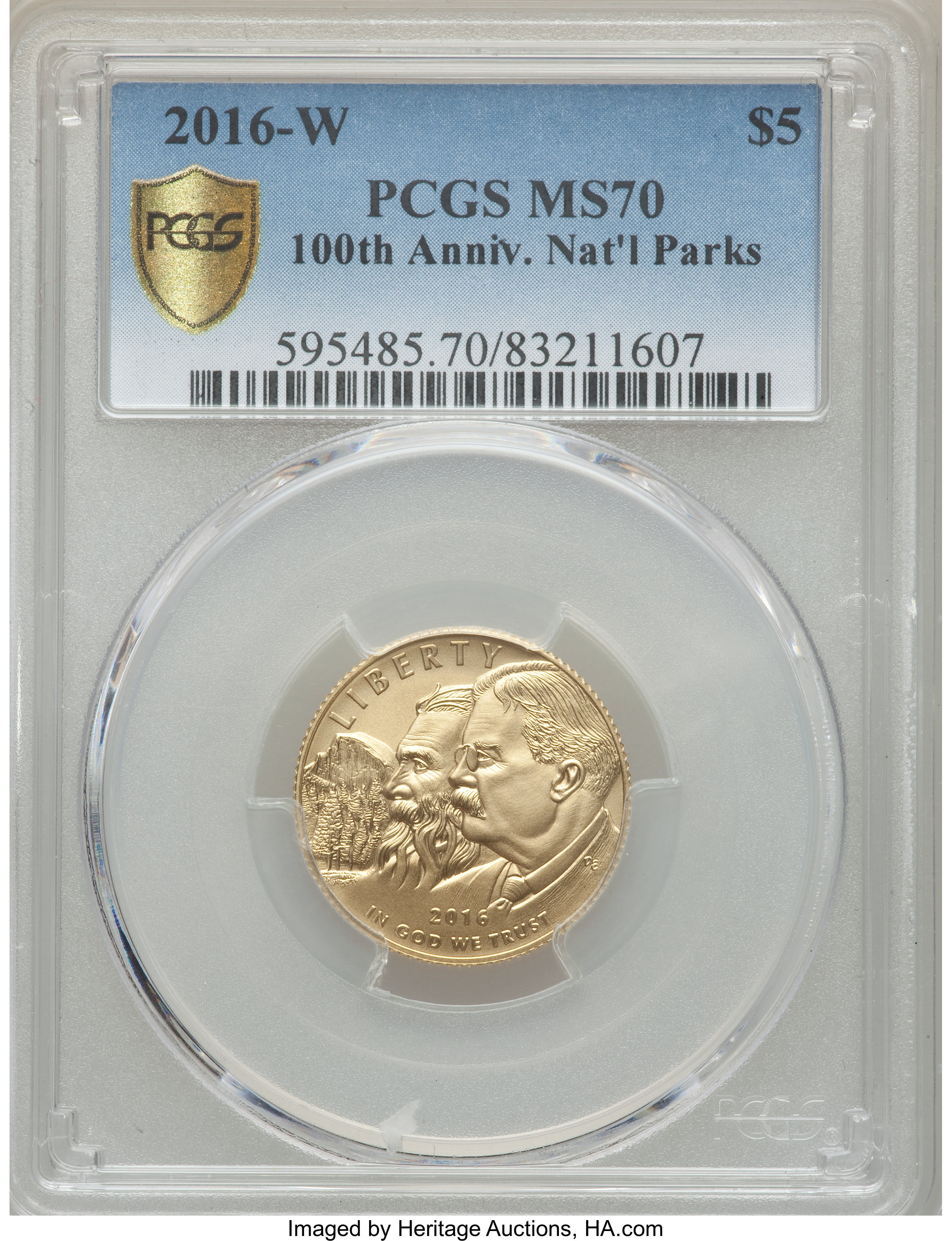 2016 W $5 Gold Coin NGC MS70-100th Anniversary National Park Service