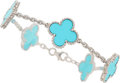 Estate Jewelry:Necklaces, Turquoise, White Gold Bracelet, Van Cleef & Arpels. ...