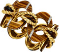 Estate Jewelry:Bracelets, Tiger's-Eye Quartz, Diamond, Gold Bracelet . ...