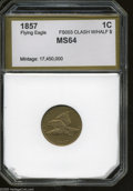 Additional Certified Coins: , 1857 1C Flying Eagle Cent Clashed with Half Dollar MS64 PCI (MS62Cleaned, Reverse Lamination). FS-003, Snow-9. A lightly c...