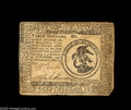 Colonial Notes:Continental Congress Issues, Continental Currency May 20, 1777 $3 Very Fine. There is a smallcorner missing and a little writing on the back. From the...