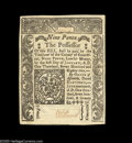 Colonial Notes:Connecticut, Connecticut June 19, 1776 9d Very Choice New. A single slit cancel is barely visible on this lovely, well embossed, bright C...