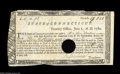 Colonial Notes:Connecticut, Connecticut June 1, 1780 3s9p Extremely Fine-About New. Thispromissory note payable in gold, silver, or bills of credit was...