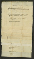 Colonial Notes:Connecticut, Connecticut Soldier Payment Forms 1783-84 Extremely Fine. Theseforms are payments to soldiers in varying amounts who served... (9notes)