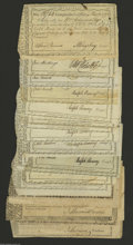 Colonial Notes:Connecticut, Connecticut Comptroller's/Treasury Office Payments. 1780-1791 Fineto XF, cancelled. Each of these notes of varying amounts ... (20notes)