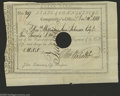 Colonial Notes:Connecticut, Connecticut Civil List Comptroller's Office Payments. 1788 VeryFine, HOC. This example with a small edge notch is made out ...