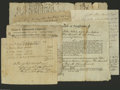Colonial Notes:Connecticut, Miscellaneous Early Documents. New Haven, CT- 1795 Bill for tending House of Representatives Plymouth County, MA- 1785 Leg... (16 items)