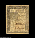 Colonial Notes:Delaware, Delaware January 1, 1776 1s Extremely Fine. A nice, solidproblem-free example. An early Abner Kreisberg envelope comeswith...