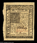 Colonial Notes:Delaware, Delaware January 1, 1776 5s Superb Gem New. Broadly margined allaround with strong signatures, bright colors, and terrific ...