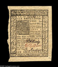 Colonial Notes:Delaware, Delaware January 1, 1776 6s New. There are minor sheet folds in twoof the broad margins and the deckled left edge comes a t...