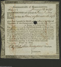 Colonial Notes:Massachusetts, Massachusetts 1782 Loan Receipt About New. This is either Anderson MA-29 or MA-30. In either case, it's a rather rare piece,...