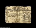 Colonial Notes:New York, New York February 16, 1771 L1 Fine. Cut in to the design all theway around and taped down the middle. From the William Wa...