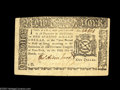 Colonial Notes:New York, New York March 5, 1776 $1 Extremely Fine-About New. A small hole atthe center of the note has been patched with moderate sk...