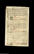 Colonial Notes:North Carolina, North Carolina December, 1771 Uncut Sheet of Three Gem New. The 2s6d note at the top of the sheet has a far smaller, less in...