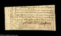 Colonial Notes:North Carolina, North Carolina December 1771 2s6d New. Fully uncirculated, but witha pinhole and a poor trim across the top....