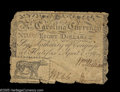 Colonial Notes:North Carolina, North Carolina April 2, 1776 $8 Very Fine. The variety with theleopard vignette. The edges are a bit tattered, and are more...