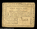 Colonial Notes:North Carolina, North Carolina August 8, 1778 $10 Very Fine. The corners arerounded but the note is free from the splits, marks, and damage...
