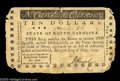 Colonial Notes:North Carolina, North Carolina May 15, 1779 $10 Very Fine. Essentially an ExtremelyFine note, but the corners are quite rounded and there i...