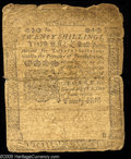 Colonial Notes:Pennsylvania, Pennsylvania June 18, 1764 20s Good. The face of the note gradesclose to Fine, but the back has lost most all of its design...